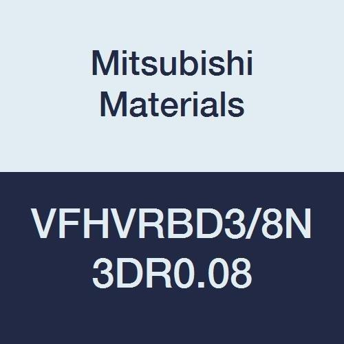 Mitsubishi Materials VFHVRBD3//8N3DR0.08 VFHVRB Carbide Impact Miracle Corner Radius End Mill 0.3750 Cut Dia 4 Irregular Helix Flutes Short 1.125 Neck Length 0.563 LOC Corner Radius 0.080