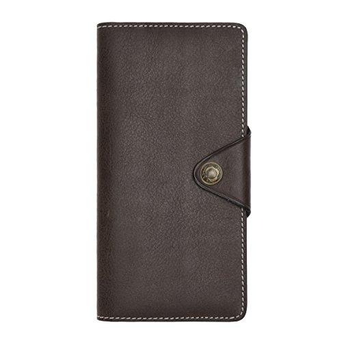 Clutch Wallet Mens Leather Bifold Card Holder for men wallets - 3