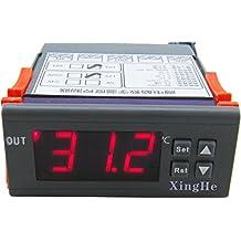 Yeeco Digital Temperature Controller Thermostat Temperature Control Temp Meter Thermometer High Precision AC/DC 12V -55-120 °C 10A with 1M Waterproof Temp Sensor