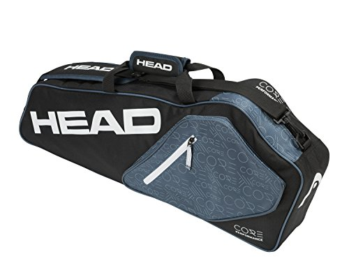 Team Tennis Balls Head - HEAD Core 3R Pro Tennis Racquet Bag - 3 Racket Tennis Equipment Duffle Bag