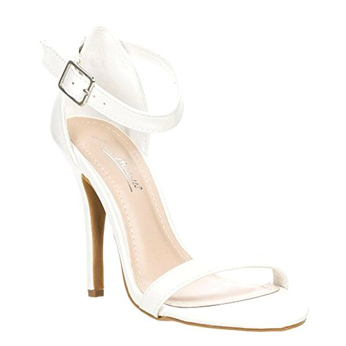 Anne Michelle Womens Enzo-01N Pumps Shoes White aNPEDl