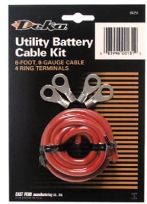 east penn 00131 lawn garden tractor battery cable kit - Garden Tractor Battery