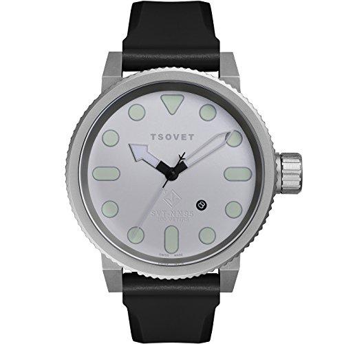 TSOVET Swiss NM110010-02 Men's Silver Dial Stainless Steel Field Watch