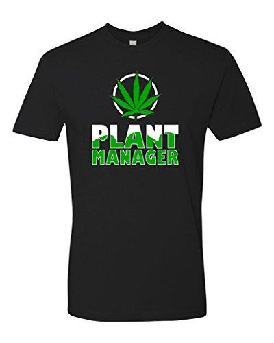 Funny Marijuana - Panoware Men's Marijuana Weed Pot T-Shirt | Plant Manager, Black, Medium