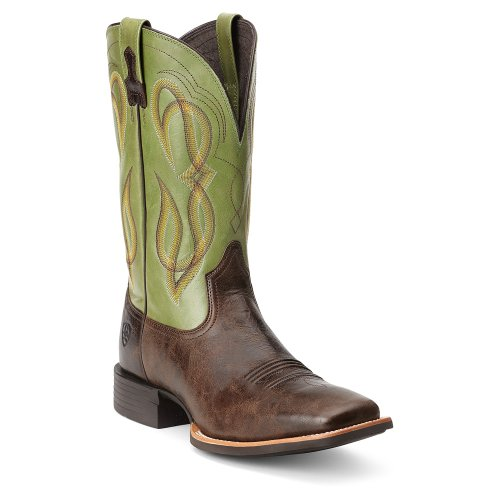 Ariat Mens Quantum Brander Western Cowboy Boot, Cowboy Coffee, 9.5 2E US Thunder Brown