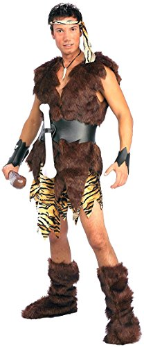 Forum Novelties Men's King Of Caves Costume, Brown, Standard (Cave Man And Woman Costumes)