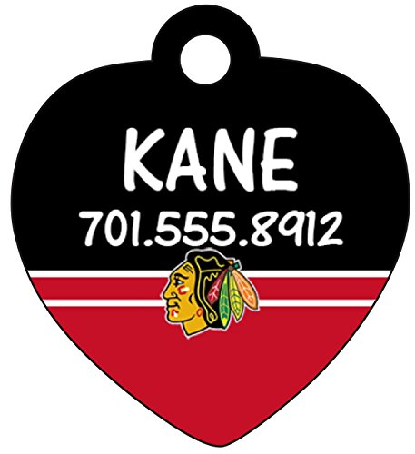 Chicago Blackhawk Pet Id Tag for Dogs & Cats Personalized