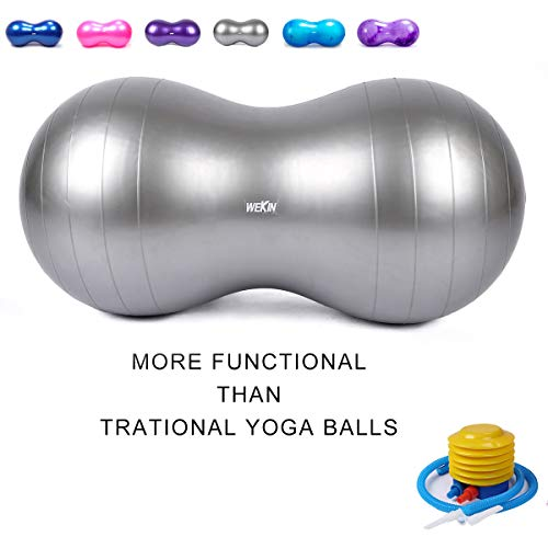 - Wekin Physio Roll Therapy Fitness Excercise Peanut Ball for Balance, Labor Birthing, Muscle Tension, Back Pain Relief, Coordinate Development, Dog Training, Home Exercise & Yoga Programme Small Large