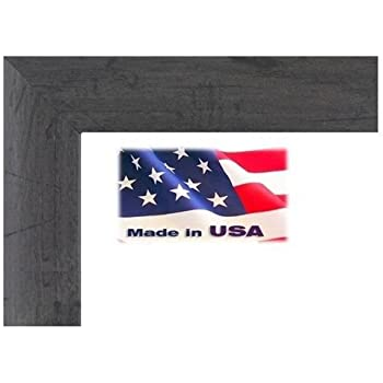22x34 custom nugget grey 1 inch distressed barnwood finish picture poster frame wood composite