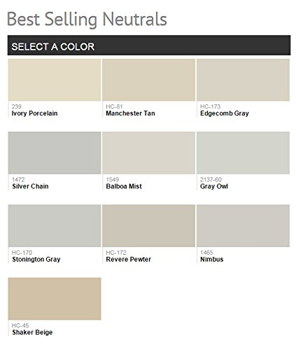 1G Benjamin Moore, NEUTRALS, Aura Waterborne Interior Paint - Eggshell - Revere Pewter