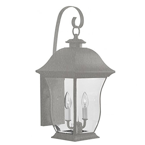 Transglobe Lighting 4971 BN Outdoor Wall Light with Beveled Glass Shades, Brushed Nickel Finished