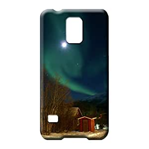samsung galaxy s5 phone back shells New Highquality Eco-friendly Packaging colorful aurora polar light polarization