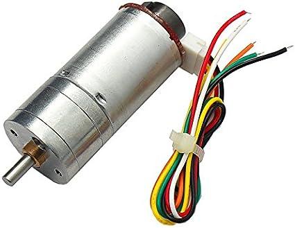 Pukido MOTOR 6V 100/210/300RPM Encoder Motor GM25-370 DC Gear Motor - (Model: 210RPM) - - Amazon.com