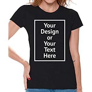 Awkward Styles Personalized Shirt Women DIY Your Own Photo Image or Text Csutom T-Shirt Front Print ONLY |