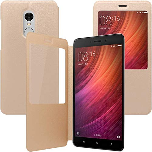 Outlier Flip Cover for Mi Redmi Note 4  Gold, Leather