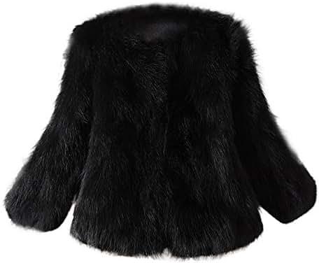 NOMUSING Outwear for Women Winter Faux Fur Soft Fur Coat Jacket Fluffy Winter Waistcoat Outerwear Sweatshirt Pullover