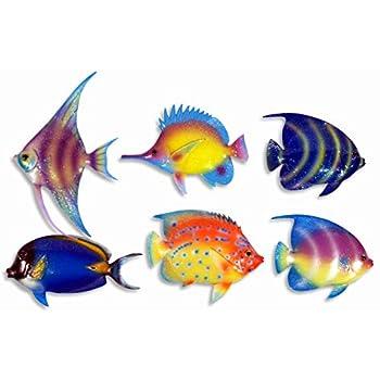 Amazon Com Handpainted L B Tropical Fish Replica Wall