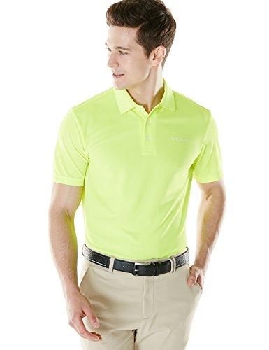 (テスラ) TESLA メンズ HyperDri 半袖 ポロシャツ [UVカット?吸汗速乾] 無地 ゴルフウェア MTK