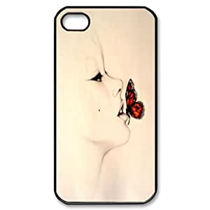 Butterfly Flexible TPU Gel Case For Iphone 4 4S case cover TPUKO-Q754180