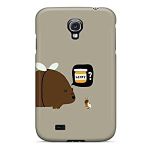 LJF phone case For Galaxy S4 Fashion Design Bear And Bee Case-IljYvrk488yARNd