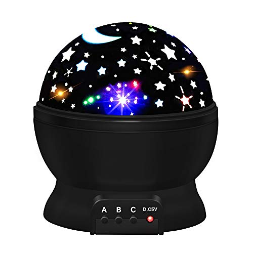 Age Birthday Gift - Star Night Lights for Kids, Tisy Star Night Light Projector for Kids Toys for 2-10 Year Old Boys Birthday Gifts Age 2-10 Black TSUKXK06