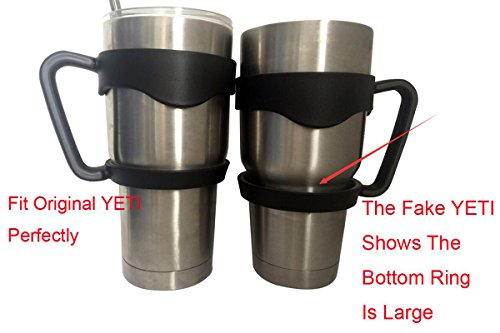 Handle for 30 oz Yeti , Rtic Rambler Tumbler Cooler Handle Vacuum Insulated  Cup Holder Grip to be Mug Accessories,Color Black