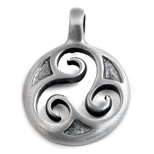 (DragonWeave Celtic Triskelion Circle Pewter Pendant Charm)