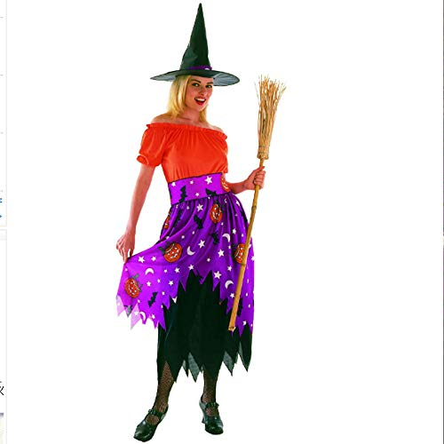Women Halloween Costumes Witch Cosplay Patty Dance Rrole Play Nightclub Makeup Spoof Costume Handmade Dress Decorations for Adult Women Lady Shirts (B Style 47728492cm)