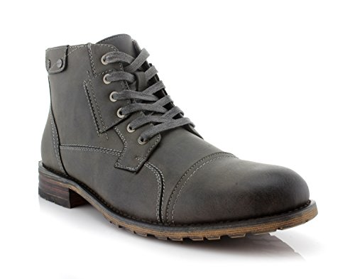 MPX806037 Casual Polar Work Boots Ronny Lace Fox Mens up Classic Motorcycle Combat Grey raEnEqIx