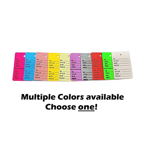 (1000 Two-Part Number, Style, Size & Price Perforated Coupon Tags - 1.25