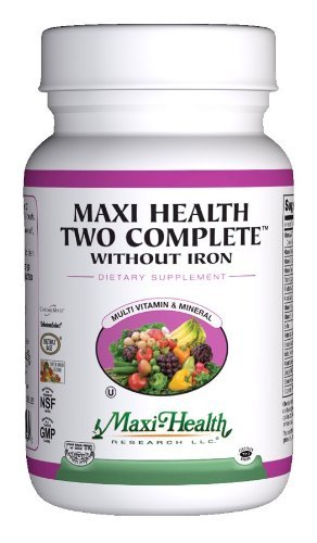 Maxi Health Maxi Health Two Complete No Iron (120 Capsules), Kosher Multi Vitamins Without Iron For Sale