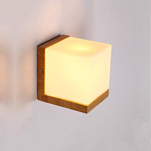 Pumpink Nuevo Estilo Chino Creativo Cuadrado azucarero Luces de Estilo japonés Dormitorio Cama de LED de Madera Maciza...