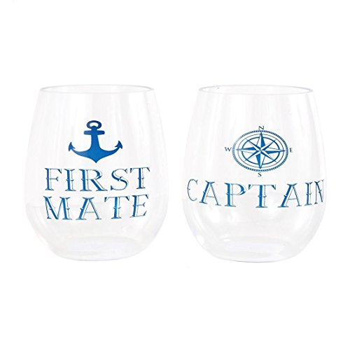 DEI Captain/First Mate Stemless Wine Glasses