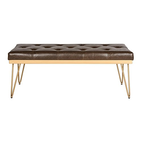 Safavieh Home Collection Marcella Brown & Gold Bench