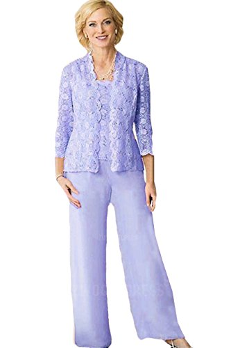 Lavender Mother of The Groom Trouser Suit Outfits Size 24