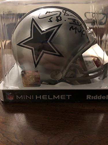 Larry Brown Super Bowl Xxx Mvp Autographed Signed Memorabilia Mini Football Helmet With JSA Coa