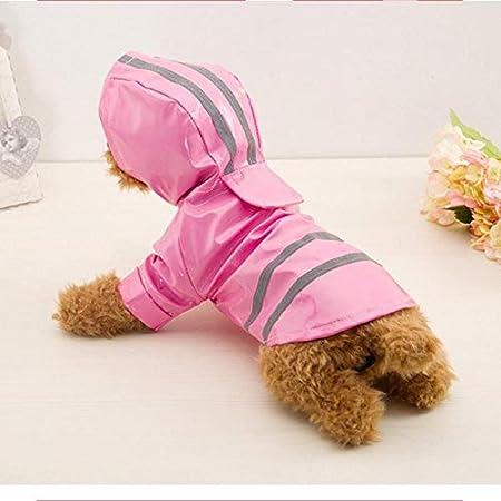 Cappotto Impermeabile per Cani e Gatti KTENME Taglia S Impermeabile in Poliuretano Riflettente con Cappuccio