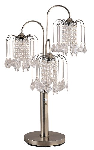 ORE 716AB International Table Lamp with Crystal-Like Shades, 34