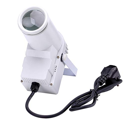 - U`King Beam Pinspot Light 10W RGBW Led Stage Wash Spot Lights with DMX for DancePartyDJDiscoWeddingShowHome MirrorBall Lighting (WHITE)