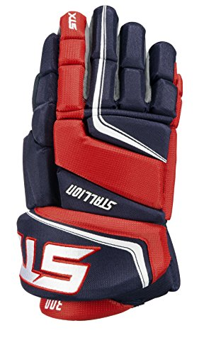 STX Stallion 300 Junior Ice Hockey Gloves, Navy/Red, ()