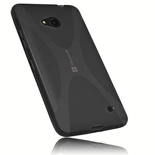 mumbi X-TPU Schutzhülle Microsoft Lumia 640 Hülle transparent schwarz