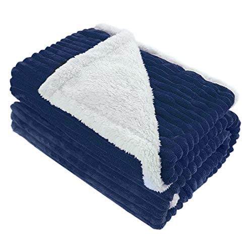 - uxcell Berber Fleece Blanket Twin Size for Bed/Couch, Double-Sided Super Soft Luxurious Plush Blanket 60