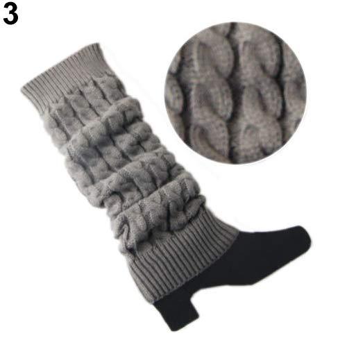 Baost Fashion - Calcetines de Punto Trenzados para piernas de Invierno, Largos, para Botas y piernas, para Mujer y niña,...