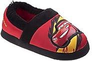 Josmo Kids Disney Cars Boys Plush Slipper - Black/Red - Sizes 5-12 - (Toddler)