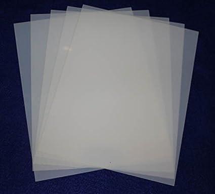 amazon com mylar 5 pieces of 14 mil 8 1 2 x11 blank sheets