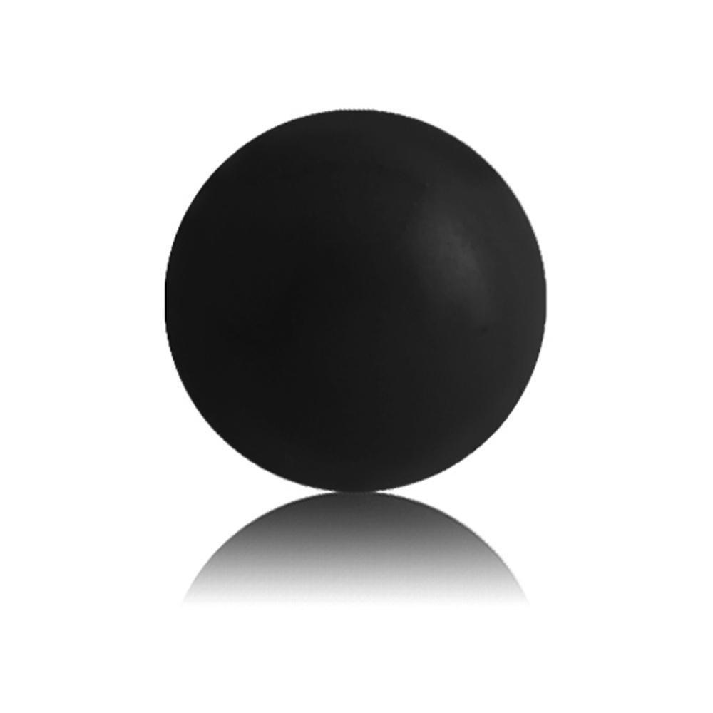 BodyJewelleryShop Black BioFlex Push-Fit Ball 1.6mm x 4mm