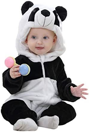 IDGIRL Baby Costume, Animal Cosplay Pajamas for Boy Winter Flannel Romper Outfit 2T, Colorful One Piece
