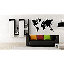World map Vinyl decal Wall Car Laptop, Violet 50inch