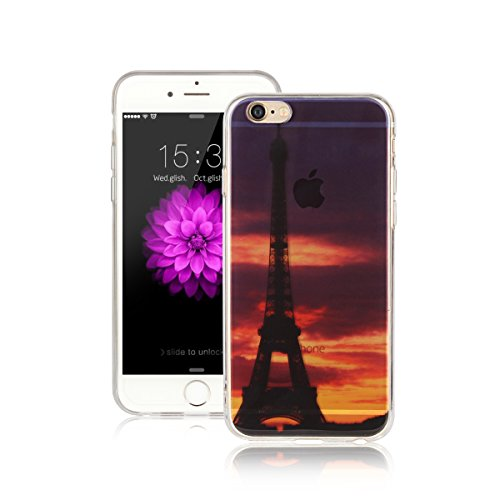Für Apple iPhone 6 Plus / iPhone 6S Plus (5.5 Zoll) Hülle ZeWoo® TPU Schutzhülle Silikon Tasche Case Cover - AK004 / Eiffelturm
