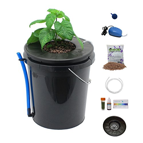 ❥ Viagrow Black Bucket Deep Water Culture Hydroponic System Hydroponic System 11
